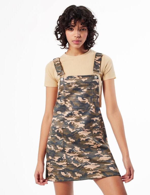 Printed pinafore dress