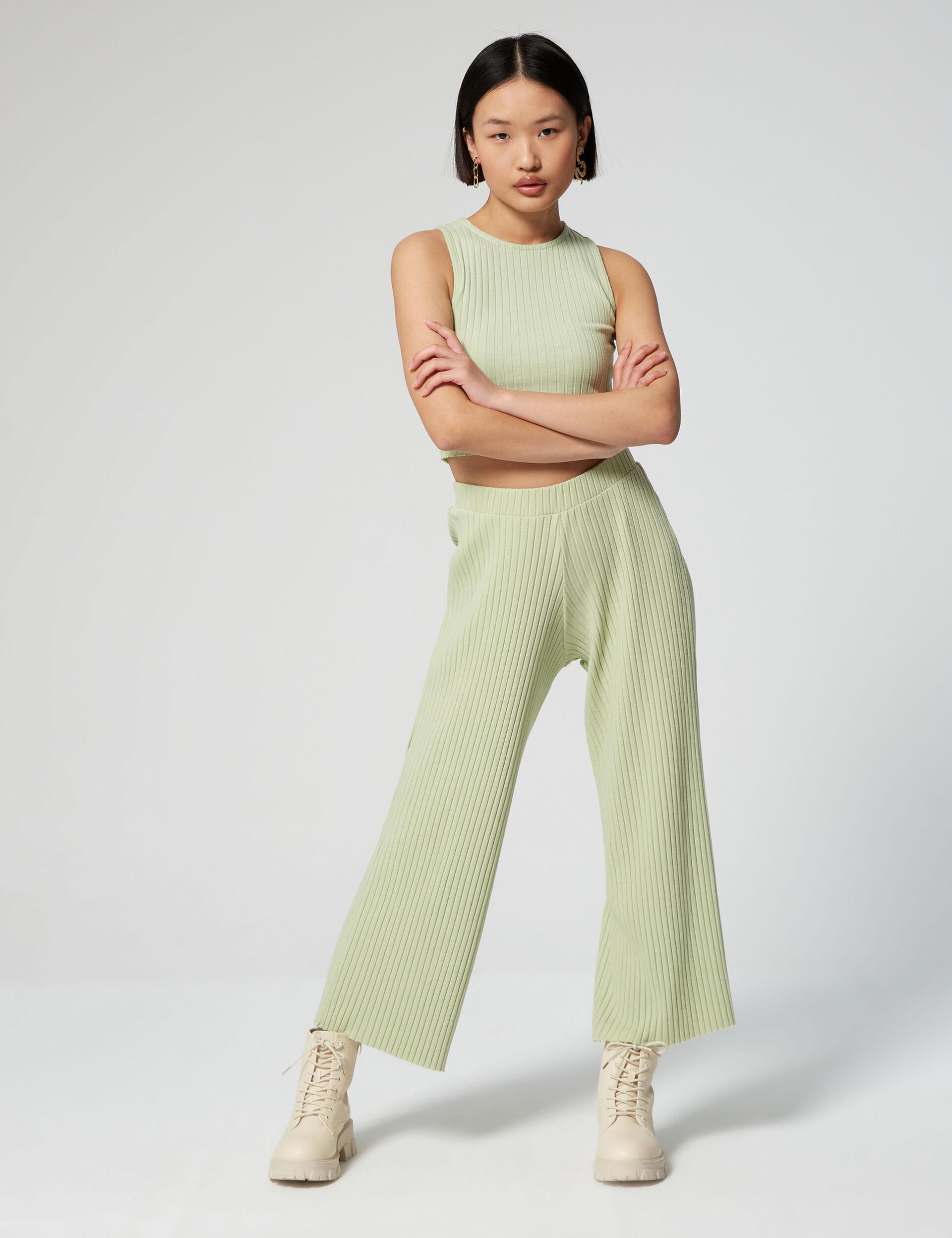 Ribbed culottes