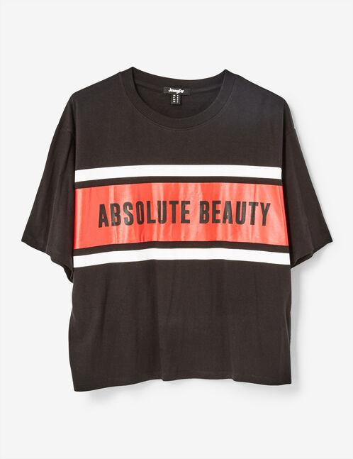 Black oversized printed T-shirt