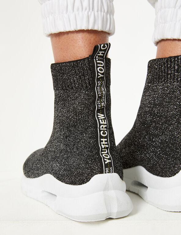 Baskets chaussettes pailletées