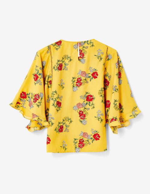 blouse fleurie ocre
