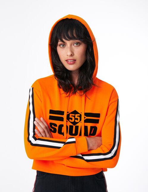 "Orange ""55 squad"" hoodie"