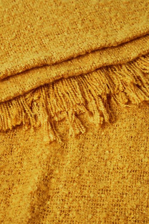écharpe texturée ocre