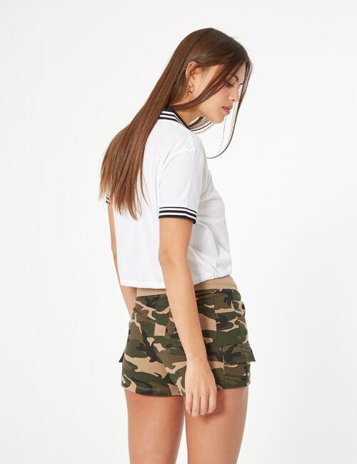 Short molleton camouflage