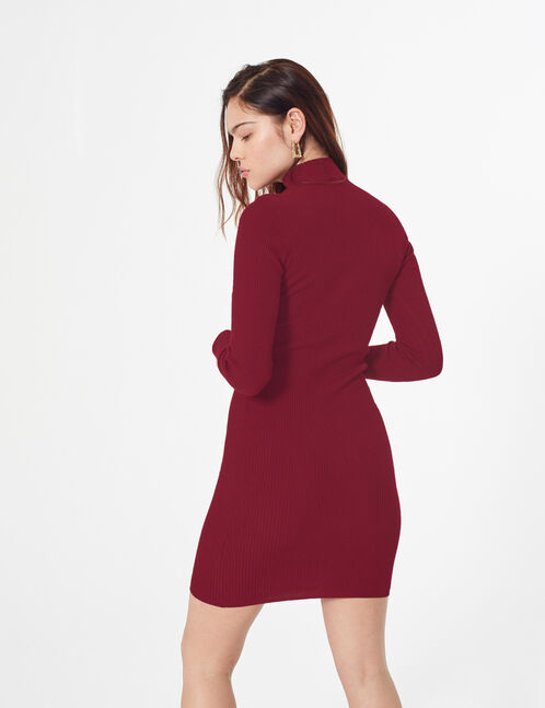 ribbed knit jumper dress