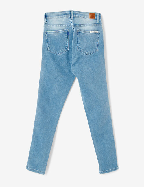 jean bandes blanches bleu clair