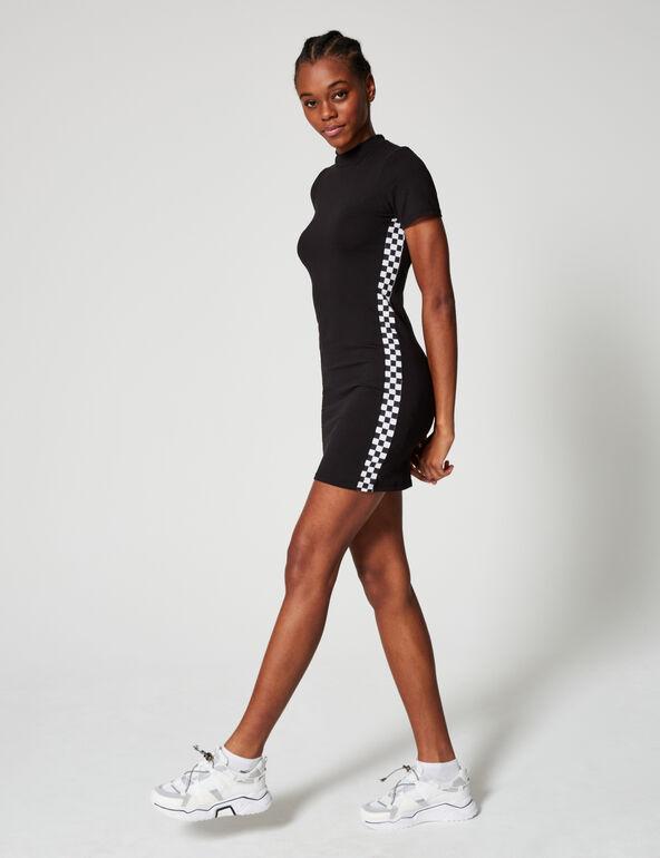 Short dress with stripe detail