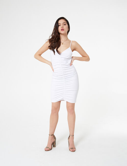 fitted gathered dress