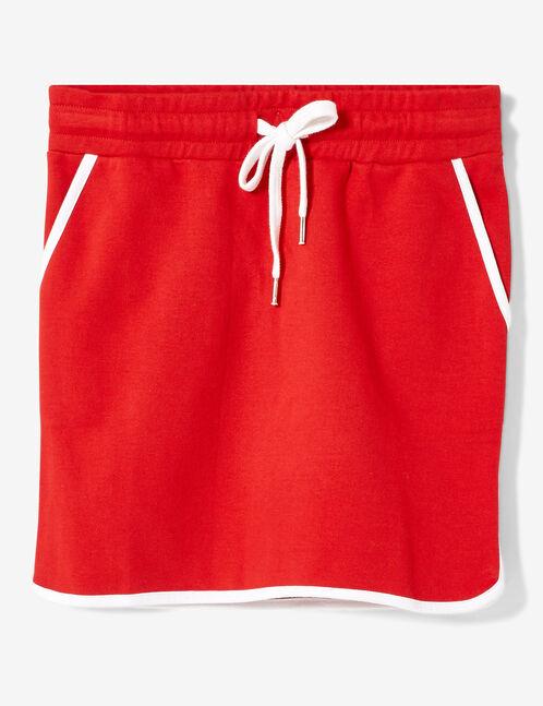 jupe molleton rouge