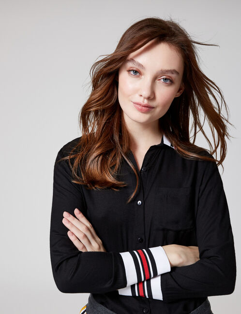Black sporty shirt