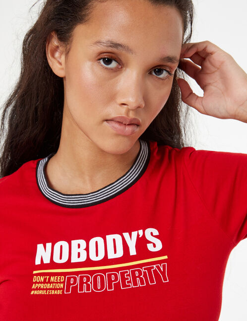 tee-shirt nobody's property