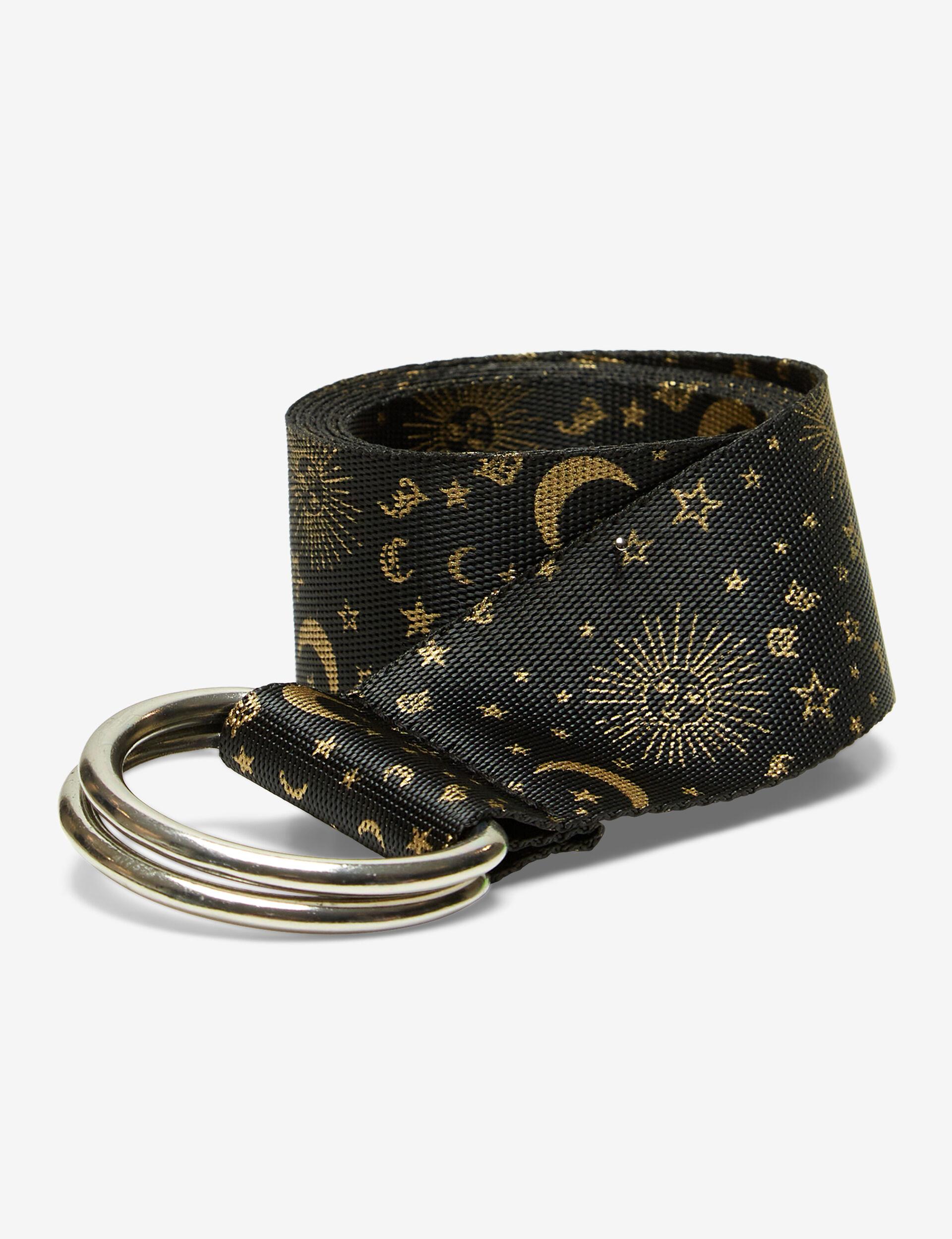 Astral-print belt