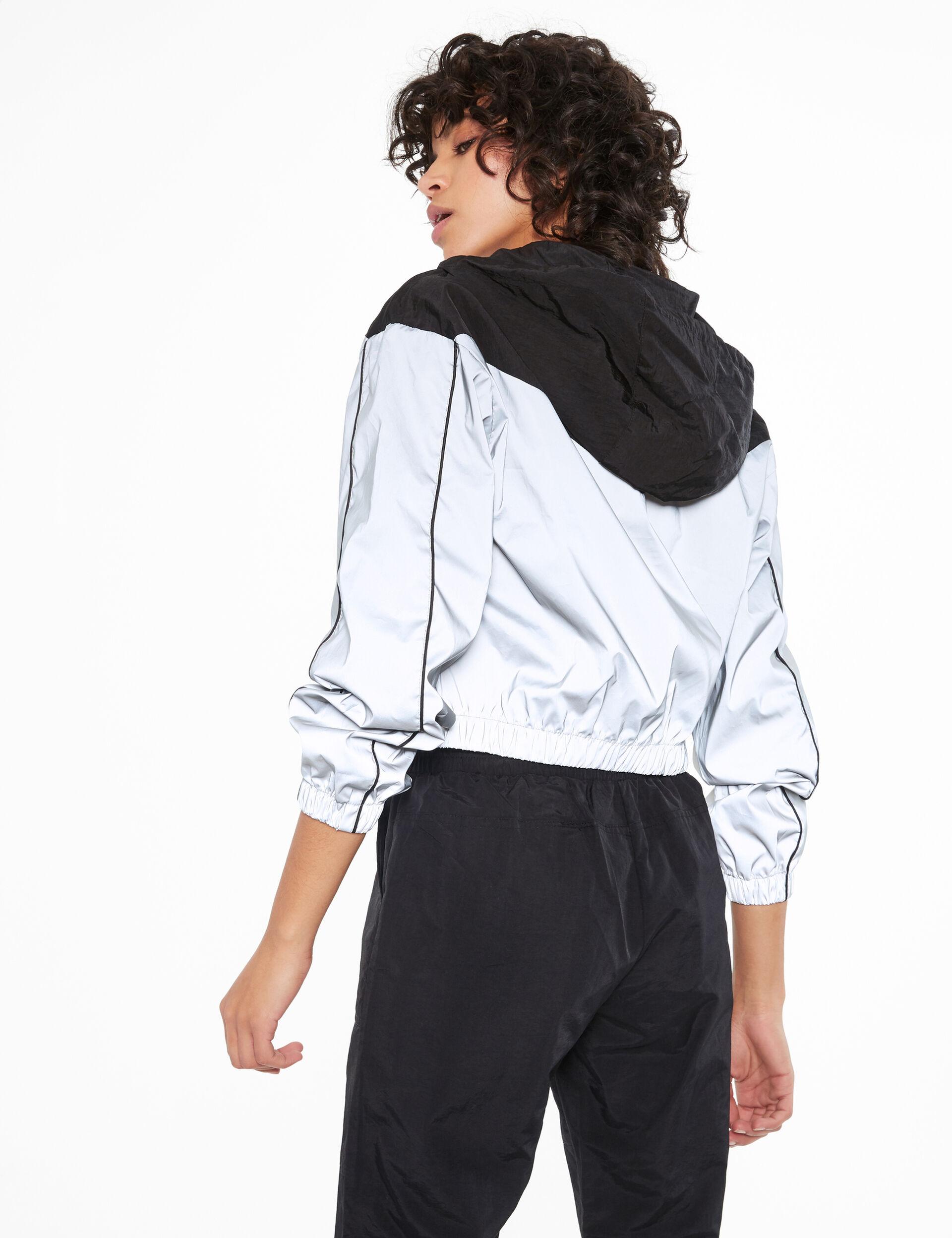 Reflective colour block sweatshirt