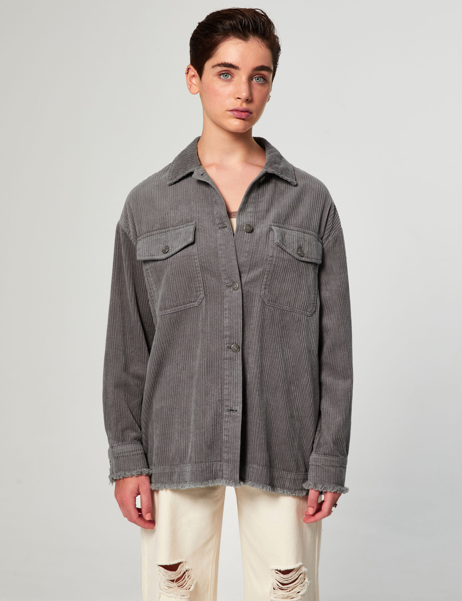 Ribbed overshirt