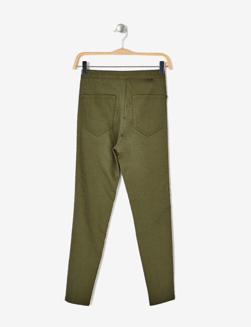 Khaki high-waisted skinny jeggings