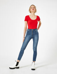 Jennyfer jean skinny zippé medium blue