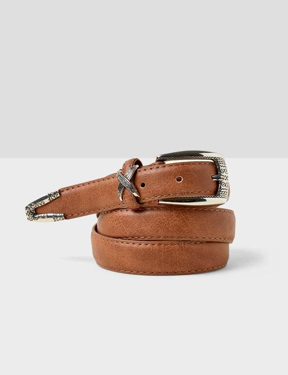 Camel western-style belt
