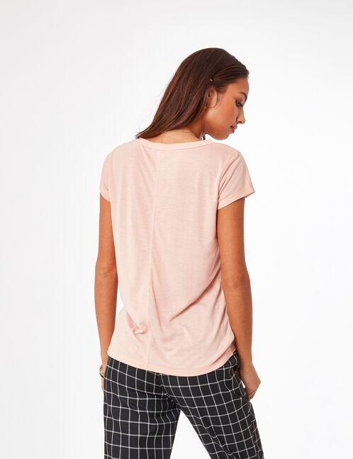 """Light pink """"feminist"""" T-shirt"""