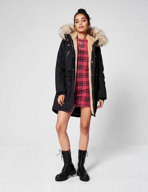 Mid-length hooded parka