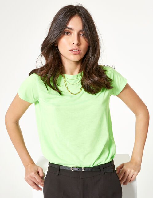 Neon green basic T-shirt
