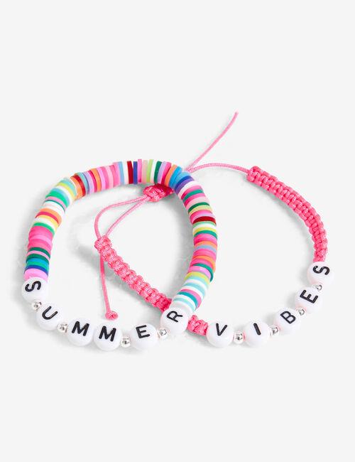 Bracelets colorés summer