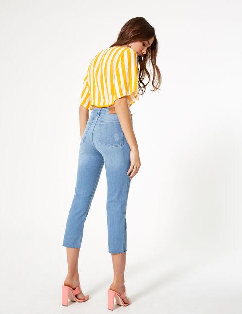 jean straight droit bleu clair