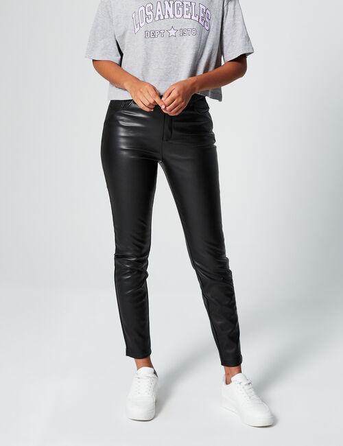 Pantalon skinny en simili