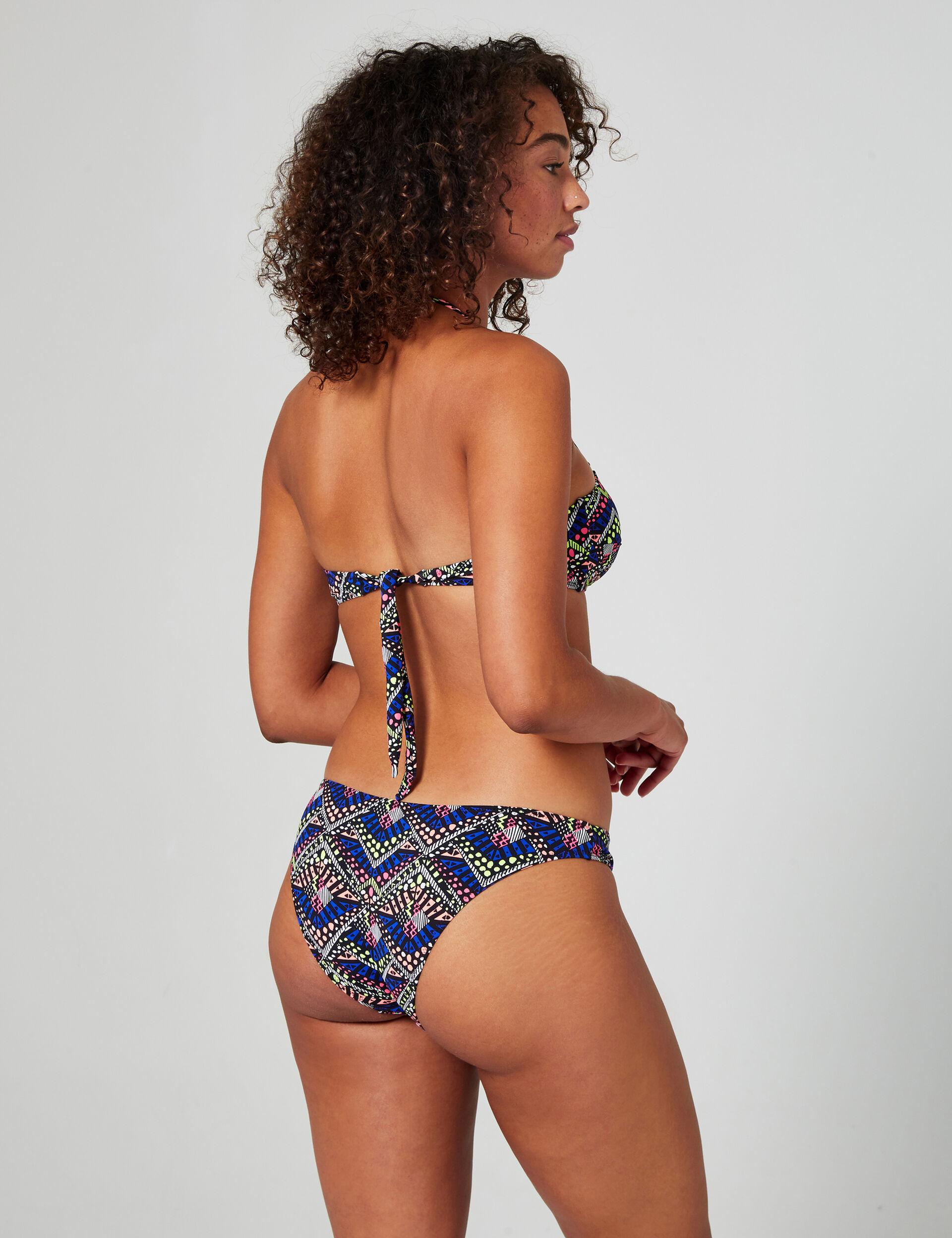 Printed bikini briefs