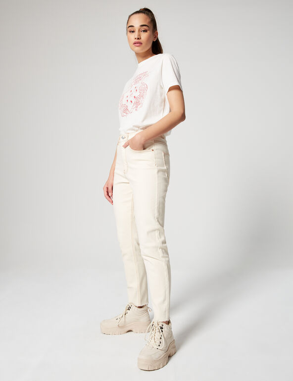 High-waisted slim fit mom jeans