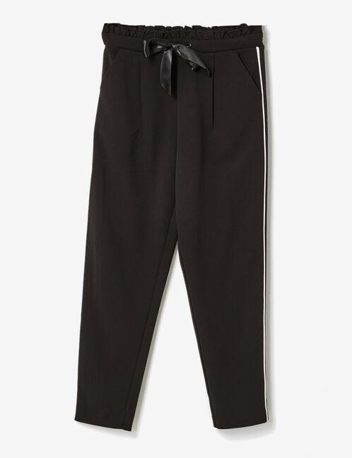 pantalon fluide avec ruban noir