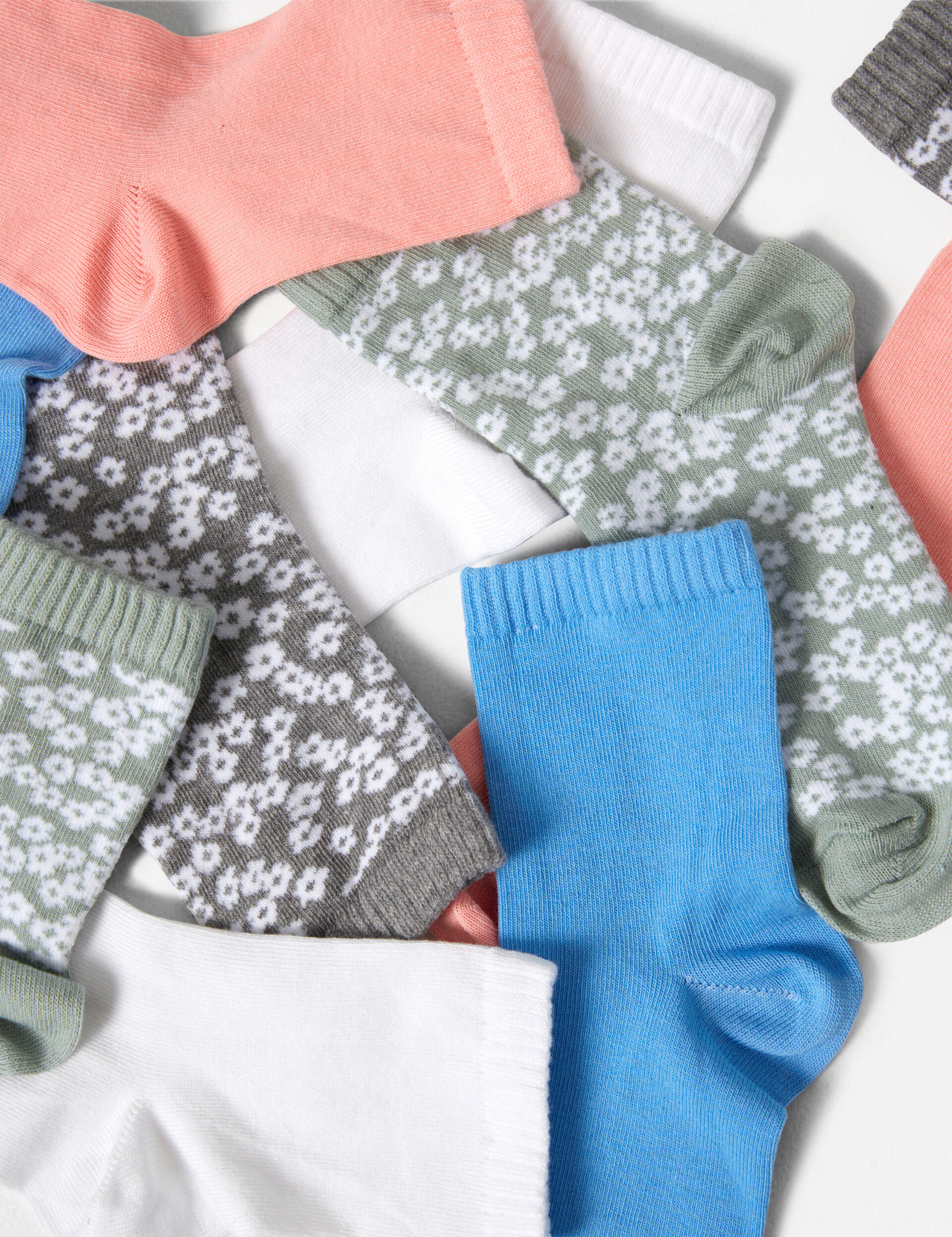 Chaussettes fleuries