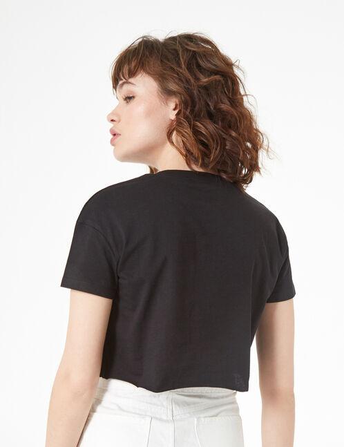 tee-shirt who cares à perles