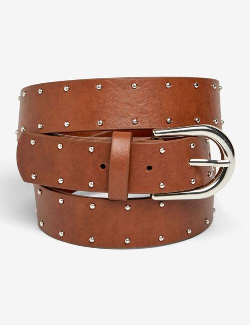 ceinture cloutée marron