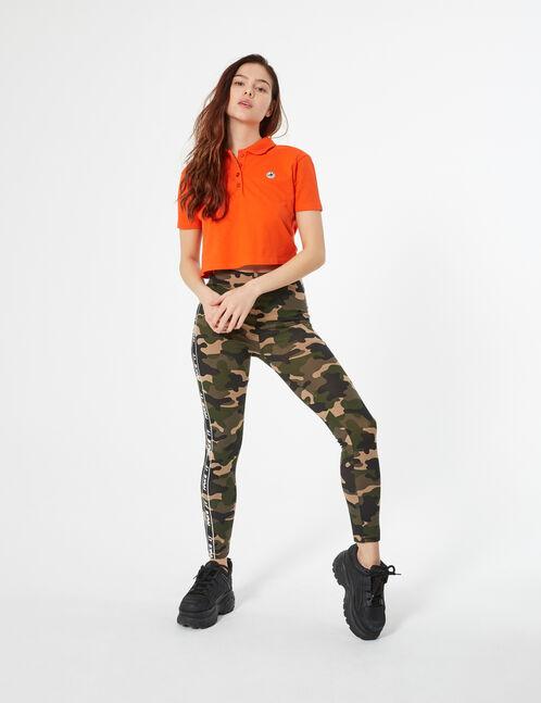 legging camouflage à bandes