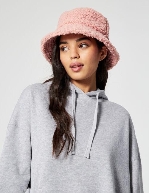 Imitation-sheepskin bucket hat