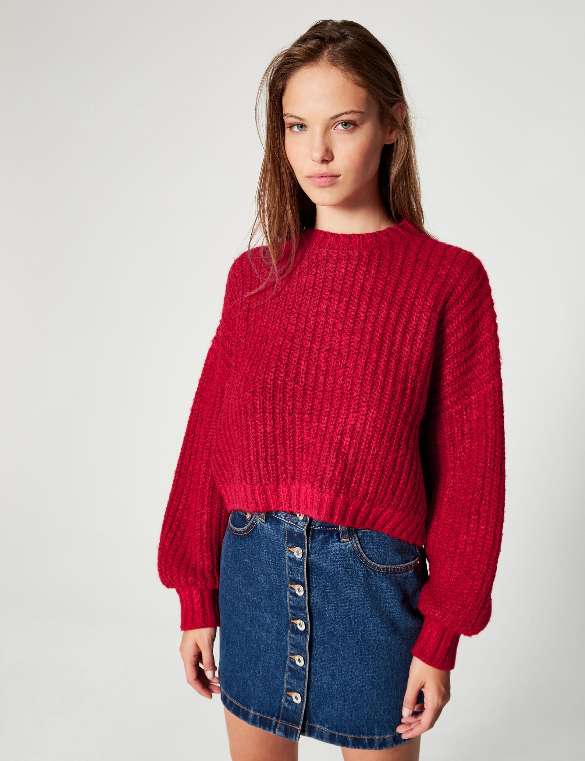 Oversized cropped jumper