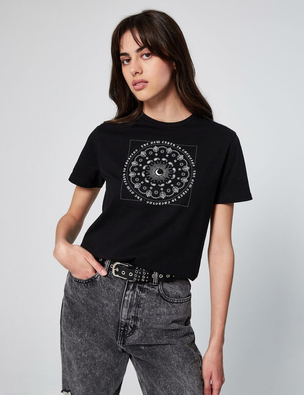 Loose-fit T-shirt with motif