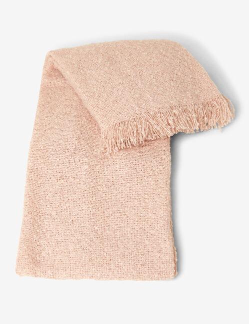 écharpe texturée rose clair