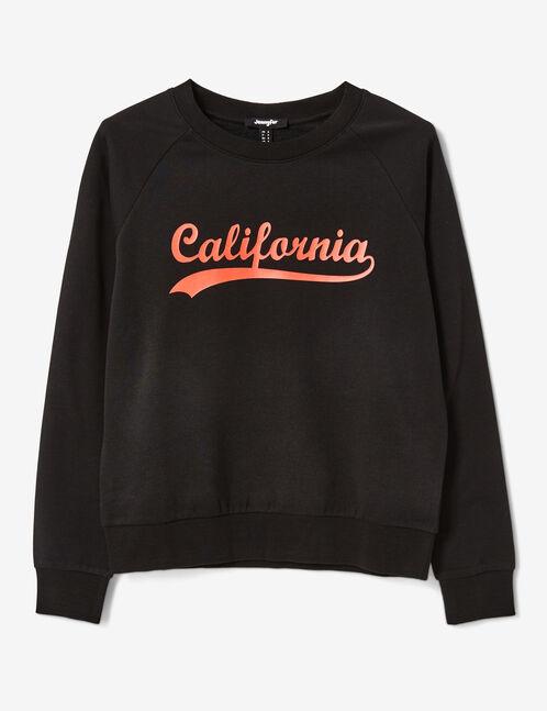 Black text design sweatshirt
