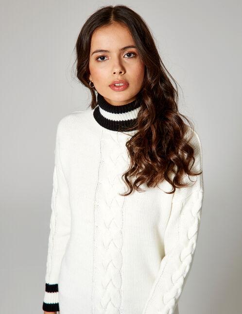 Long cream and black jumper