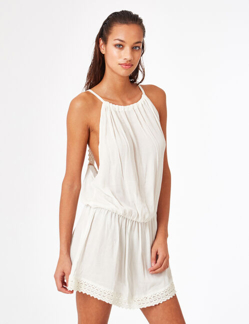 Cream beach tunic