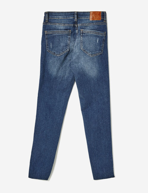 Medium blue low-rise skinny jeans