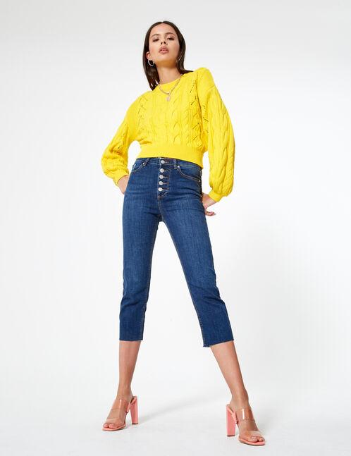 jean straight droit bleu