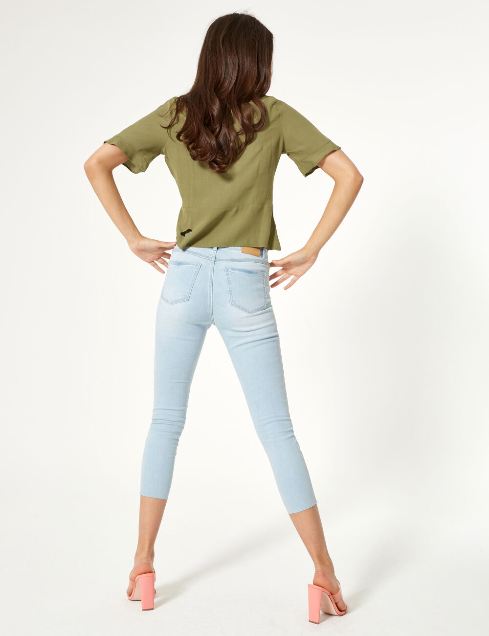 a31397140472 Jean skinny taille haute bleu clair femme • Jennyfer