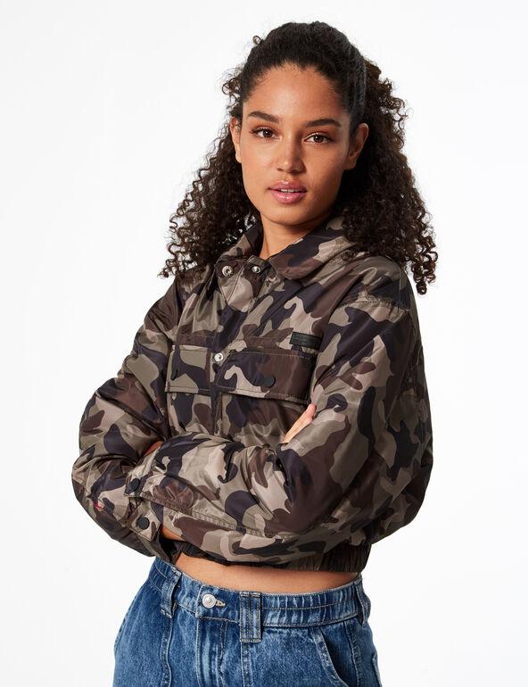Camouflage cargo jacket