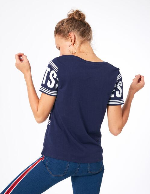 """Navy blue """"westside"""" T-shirt"""