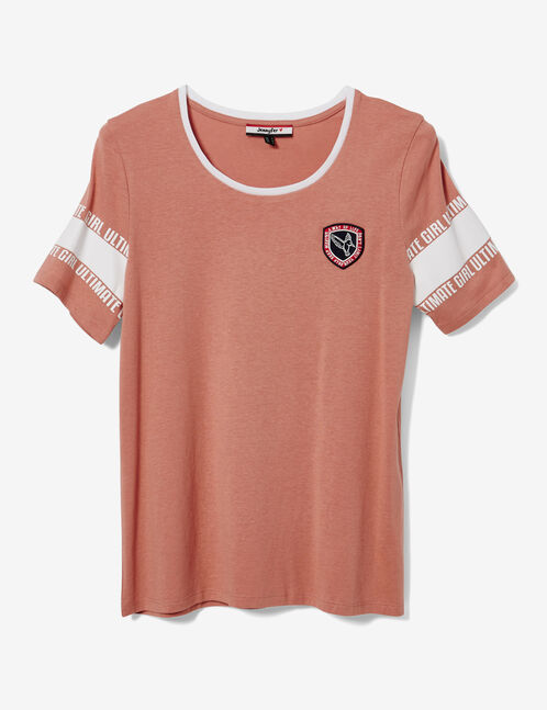 "Light pink and white ""ultimate girl"" T-shirt"