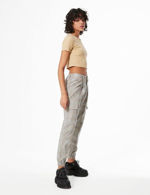 Pantalon cargo prince de galles
