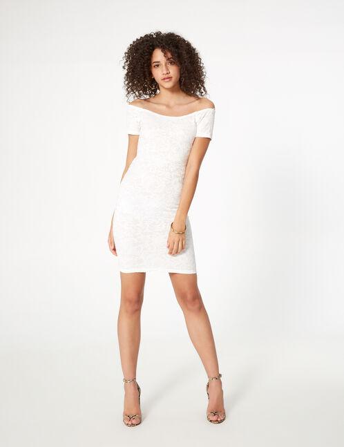 robe dentelle à nouer dos blanche