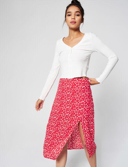 Long patterned skirt